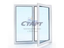 Пластиковое окно двухстворчатое Brusbox 60-3 aero
